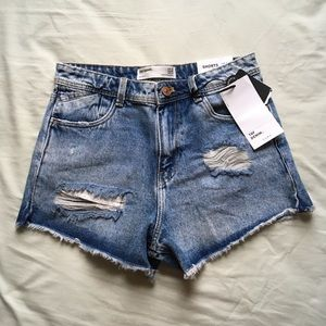 Zara Distressed High Waisted Shorts